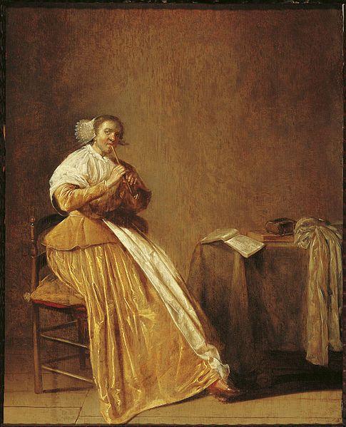 Dirck Hals (Woman Playing a Flute)