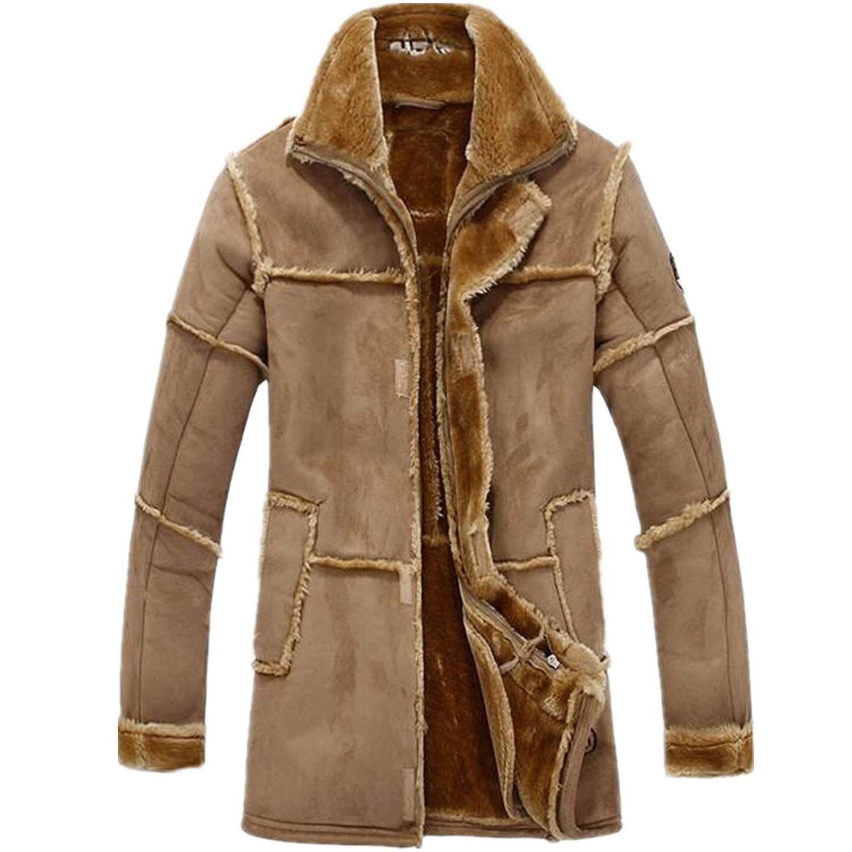[Affiliate] Allonly Men's Vintage Sheepskin Jacket Fur