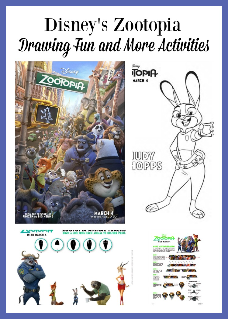 Drawing Fun & More Activities from Disney's Zootopia in