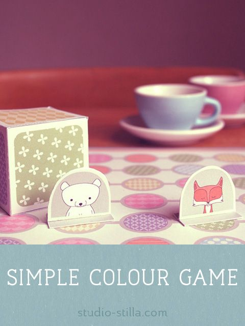 simple colour game. Learning colours for preschoolers. Printable ...