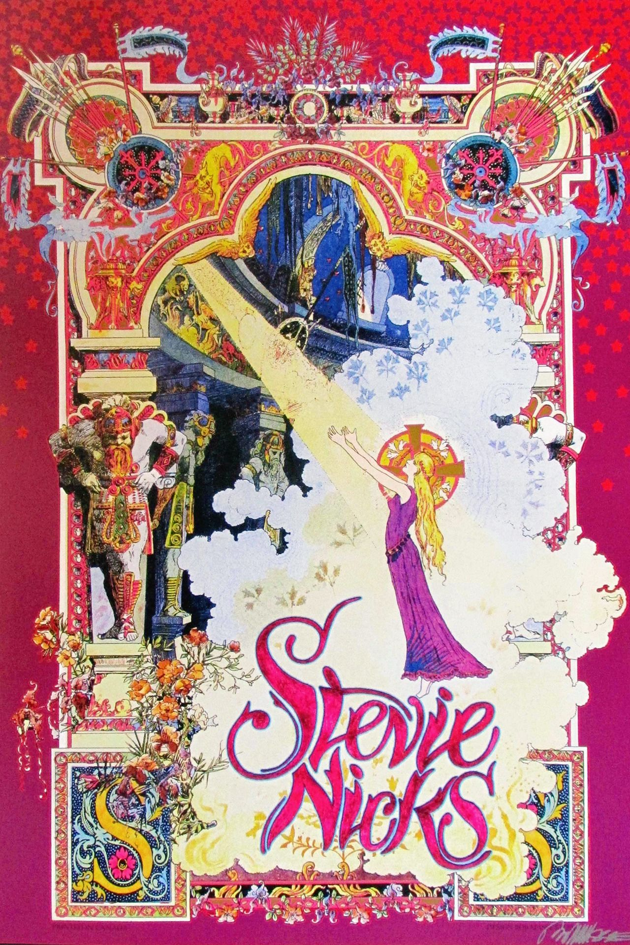 Crystallineknowledge Gorgeous Stevie Nicks Concert Poster Designed By Bob Masse Concert Poster Design Art Nouveau Poster Rock Posters