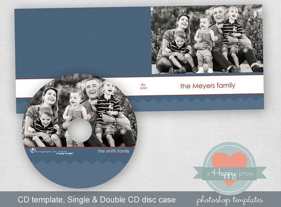 Mini Chevron Masculine digital CD and CD cases templates (single and double) $7