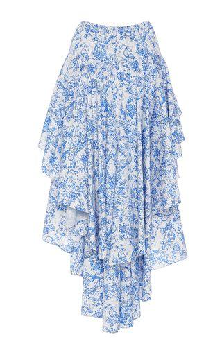 Giulia Asymmetric Ruffled Skirt by Caroline Constas   Moda Operandi