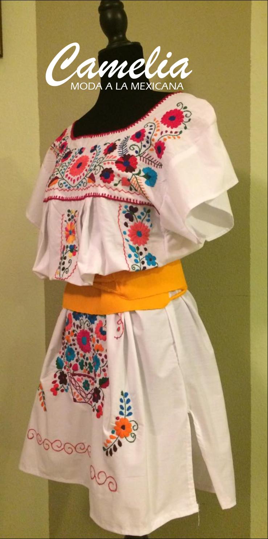 57aecdec5335d Mexican Dress - white