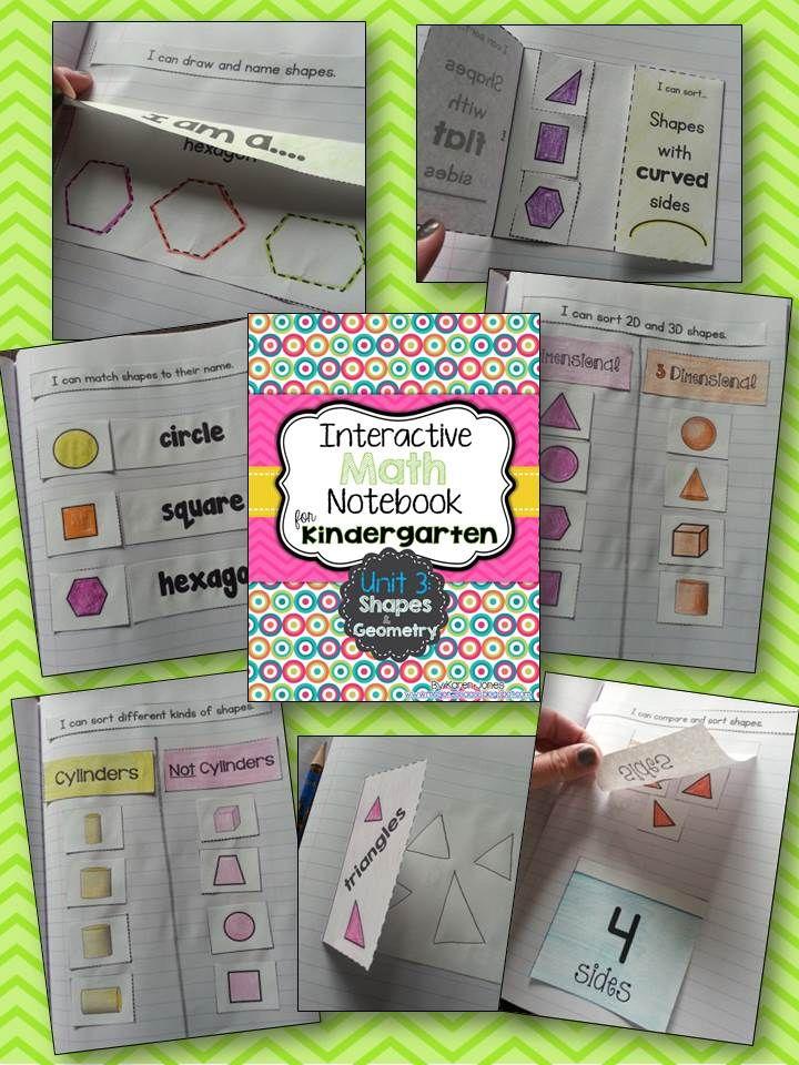 Interactive Math Notebook for Kindergarten {Unit 3 Shapes