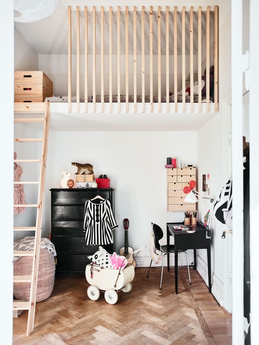 Kids loft bedroom ideas  Kids bedroom with loft bed  Maison  grenier  Pinterest  Lofts