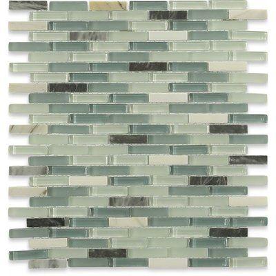 "Ivy Hill Tile Cleveland 0.5"" x 1.5"" Glass Mosaic Tile | Wayfair"