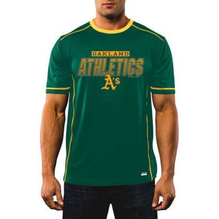 MLB Men's Oakland A'S Synthetic Tee, Size: Large, Green