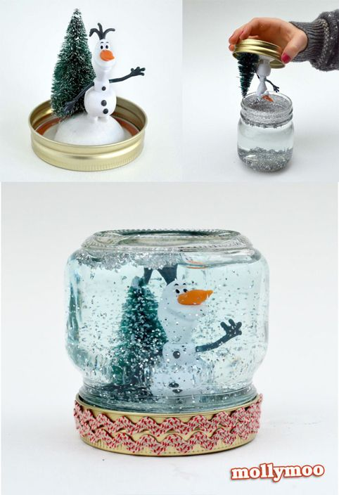 Reciclar botes de cristal para decorar en navidad for Disenos navidenos para decorar puertas