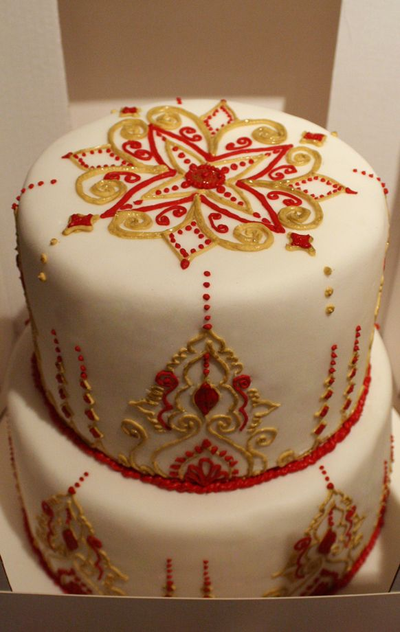Moroccan Wedding Cake In Box Small By Olofson Design