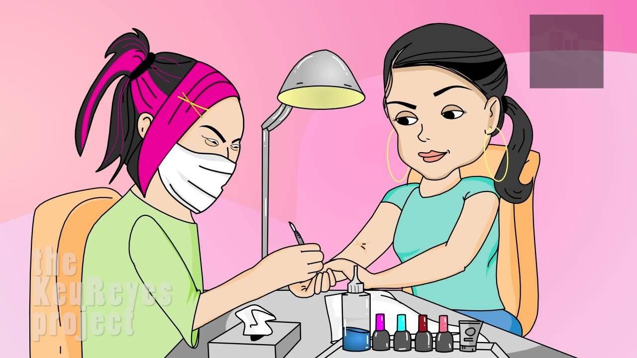 Anjelah johnson nail salon animated cartoon haha lol