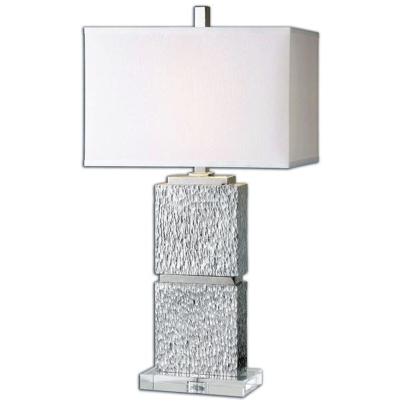 Uttermost 26182 1 eumelia 1 light 31 tall table lamp with white fabric shade