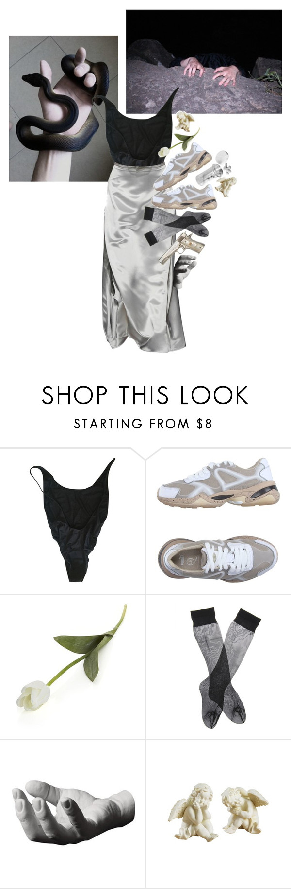 """""""how'd the lawsuit go?"""" by dadslut ❤ liked on Polyvore featuring American Apparel, Puma, Crate and Barrel, Atlantis and Harry Allen"""