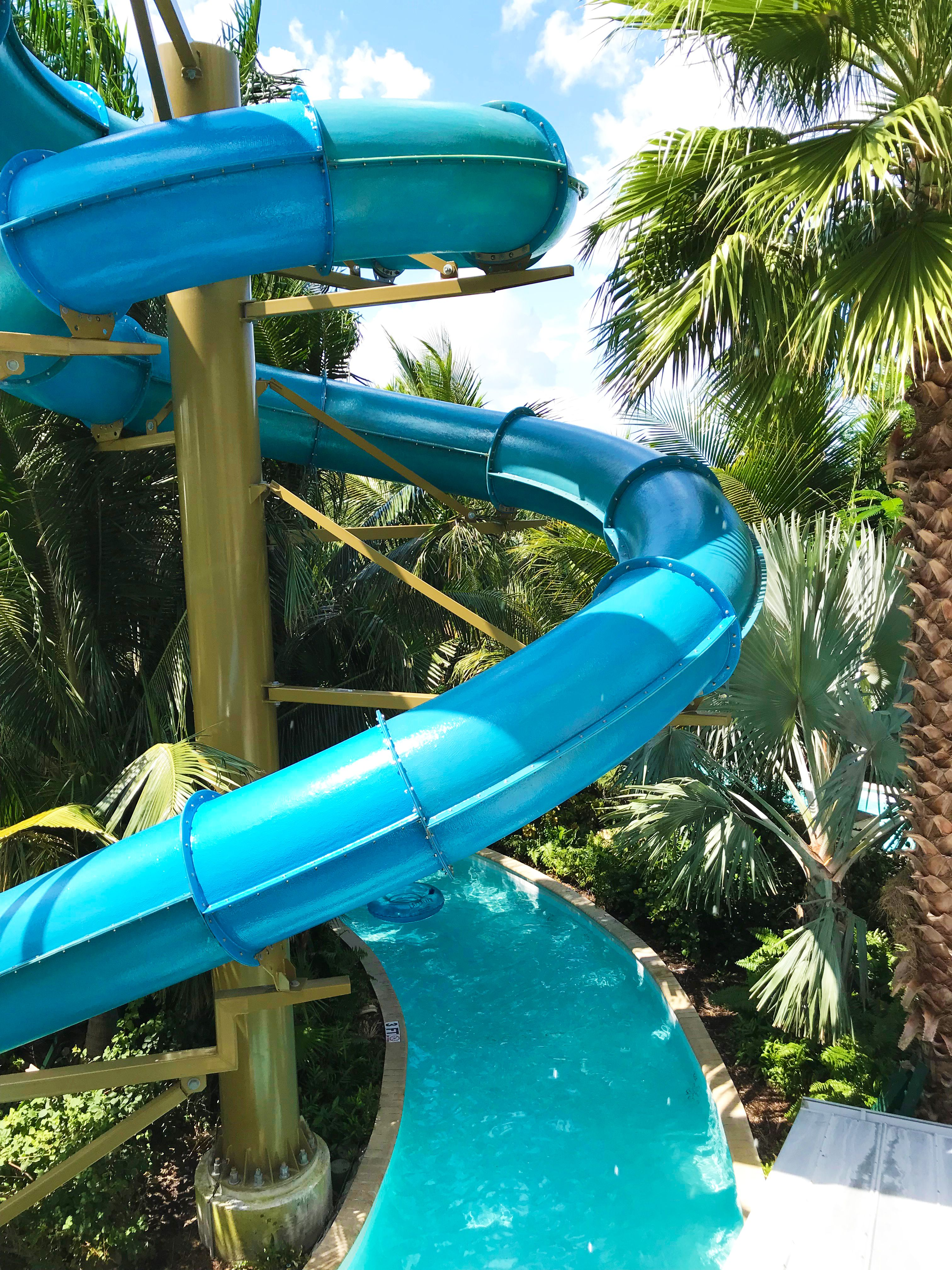 One Of The Massive New Waterslides And The Lazy River At