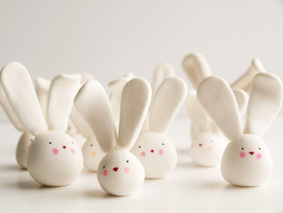 Easy to make design polymer clay rabbits for easter gifts or easy to make design polymer clay rabbits for easter gifts or decorations you could even negle Gallery