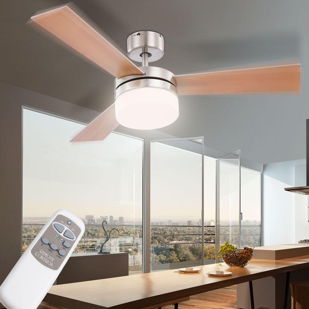 Details zu Decken Ventilator Raum Lüfter Kühler FERNBEDIENUNG Lampe ...