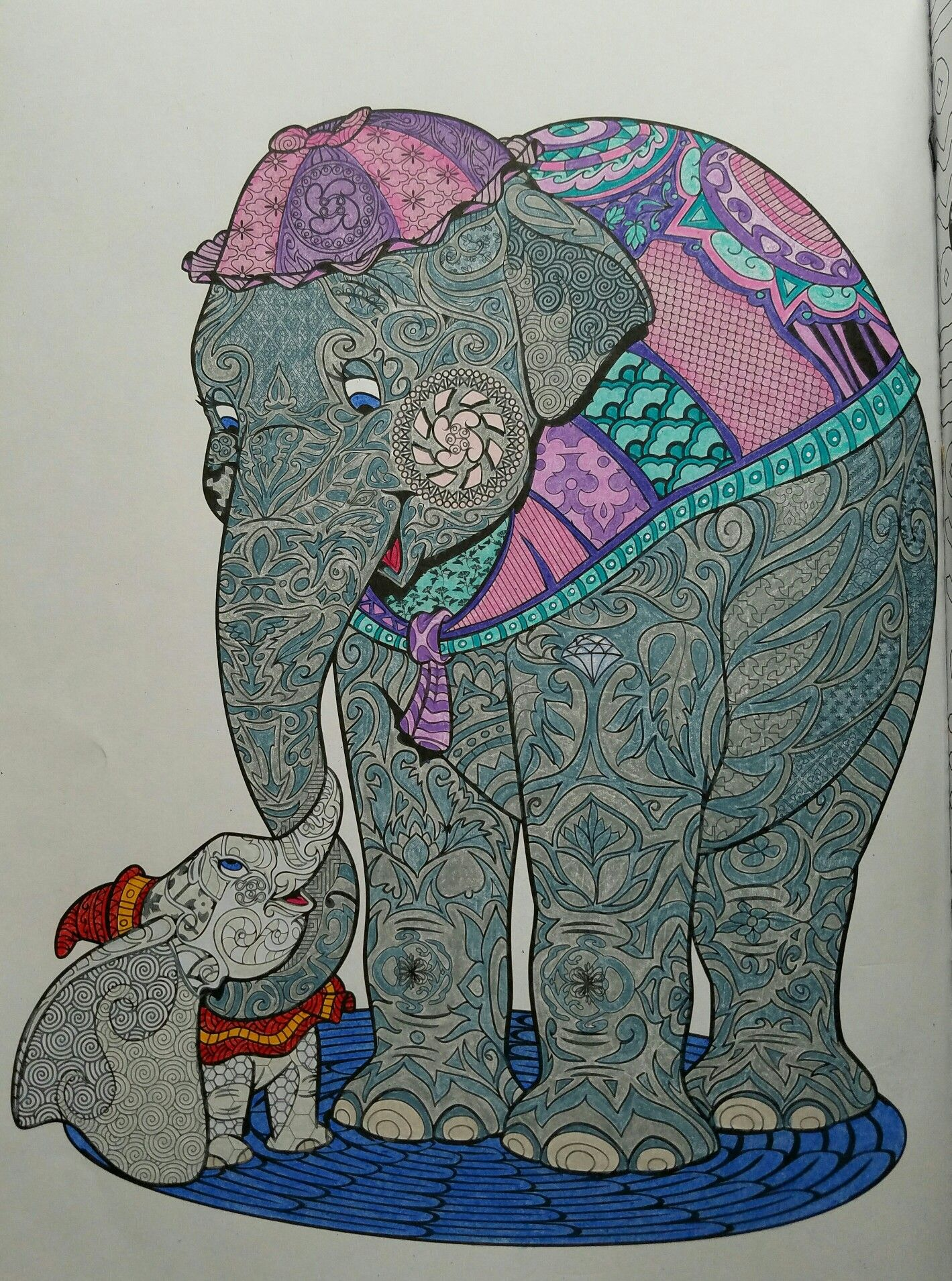 Art Of Coloring Disney Animals Jumbo Dumbo