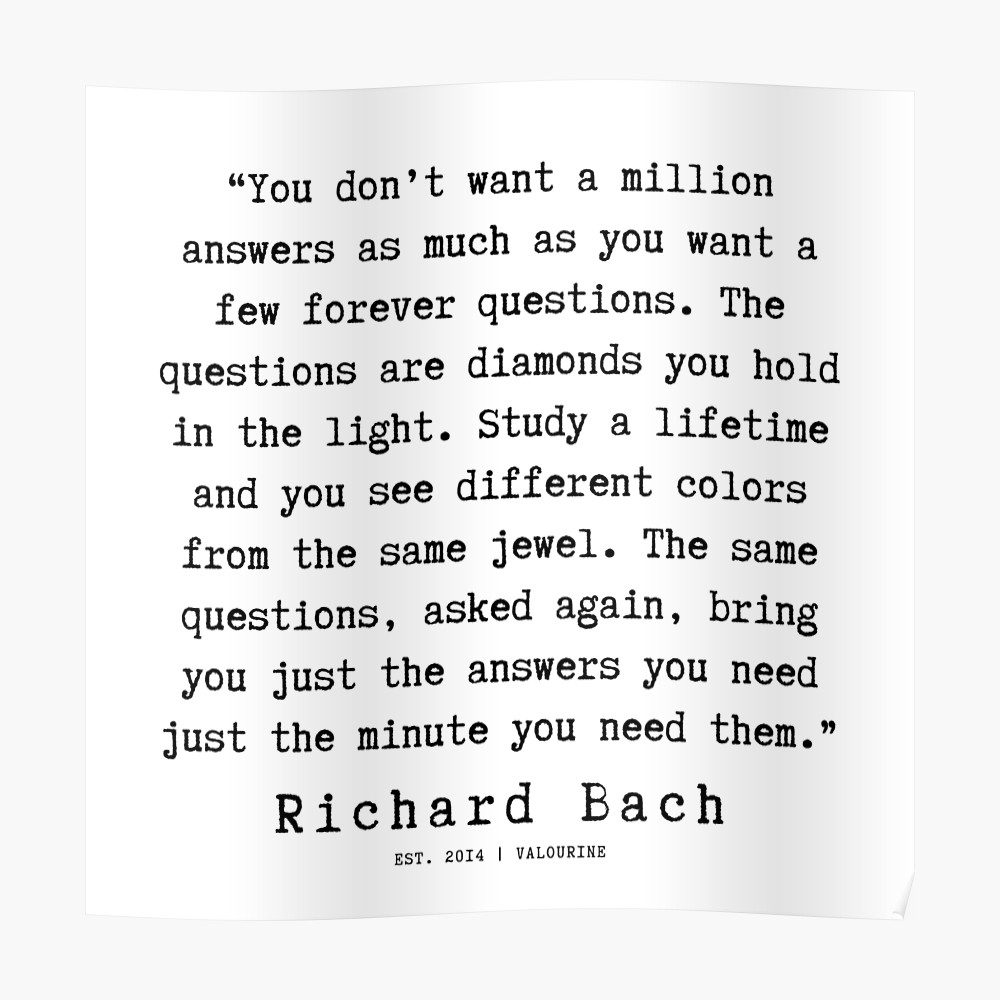 103   Richard Bach Quotes   190916 Poster by valourine