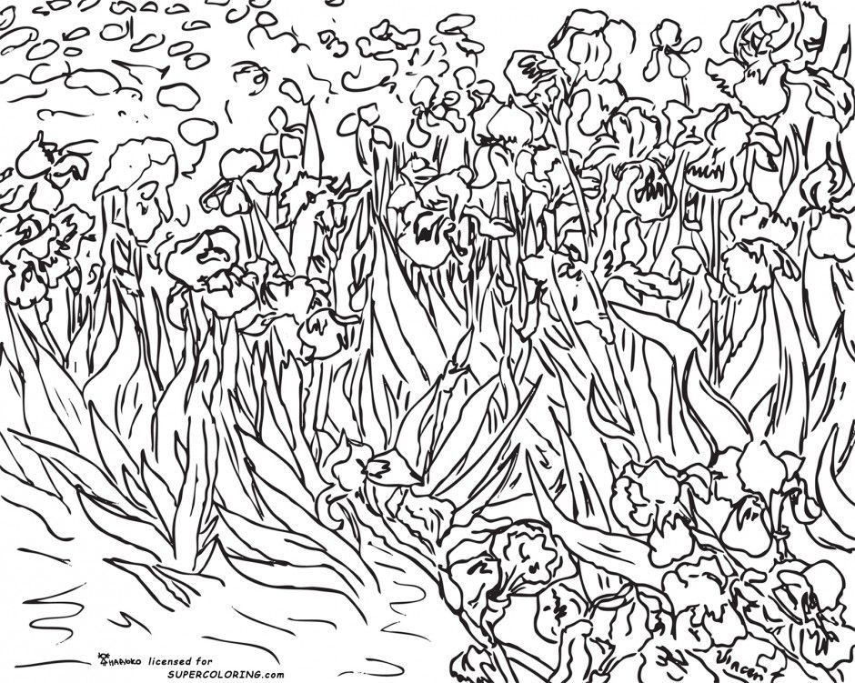 Famous Artist Coloring Pages Famous Works Of Art Coloring Book | Art ...
