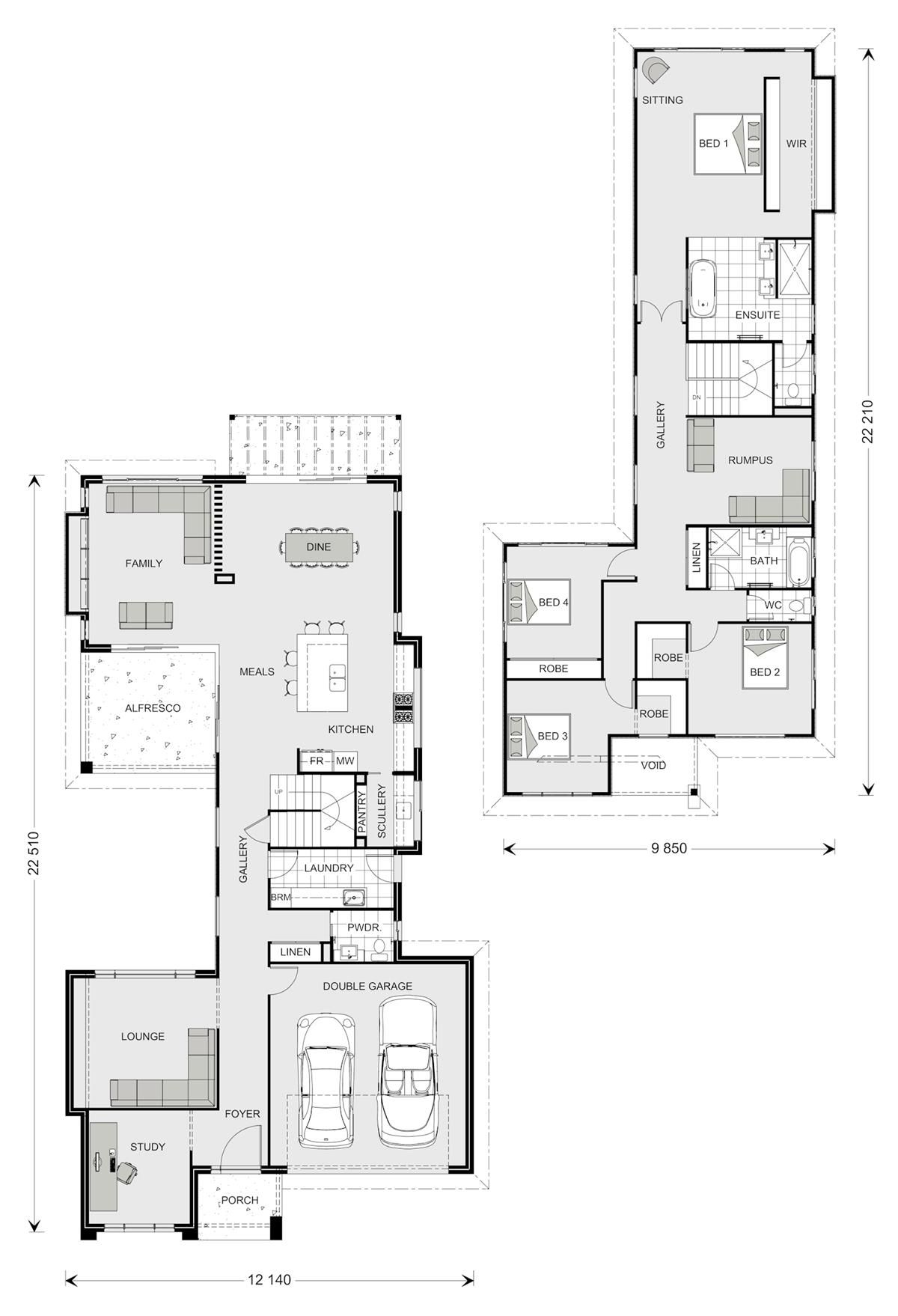 Galleria 352, Our Designs, Queensland Builder, GJ Gardner Homes ...