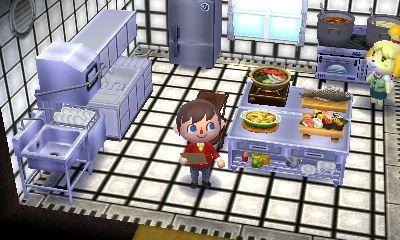 The kitchen. Happy home designer, Animal crossing