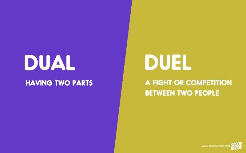 Dual Duel Jpg 800 500 Good Vocabulary Words English Vocabulary Words Learn English Vocabulary