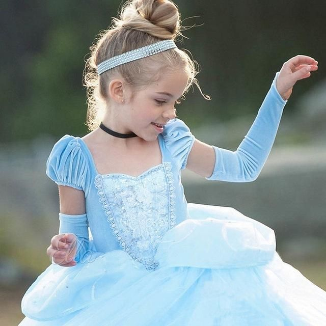ddc390974d717 2018 long ball gowns children role-play costume princess cinderella ...