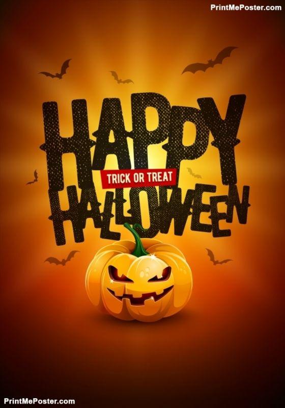 Happy Halloween Poster Design Poster Poster Printmeposter Mousepad Tshirt Halloween Poster Halloween Party Poster Poster Design