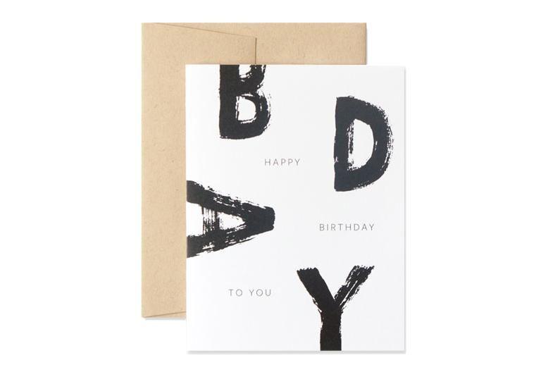 Happy Birthday Graphic Card Simple Birthday Cards Cool Birthday