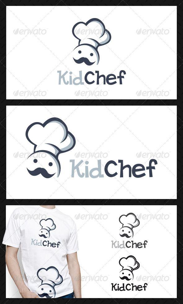 Kid Chef Logo Template u2014 Vector EPS #happy food #diner u2022 Available - chef templates