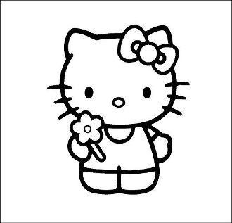 New Custom Screen Printed T Shirt Kitty Flower Small 4xl Free Hello Kitty Coloring Hello Kitty Colouring Pages Kitty Coloring
