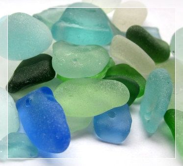 Sea glass. Want to look for some of this, next time I go to the beach!