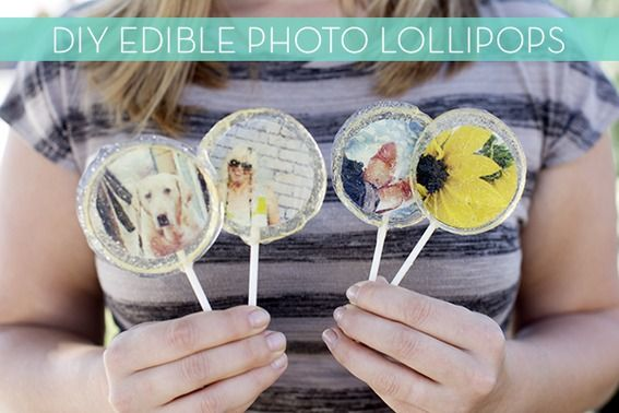 how to make your own edible photo lollipops craft food and gift. Black Bedroom Furniture Sets. Home Design Ideas