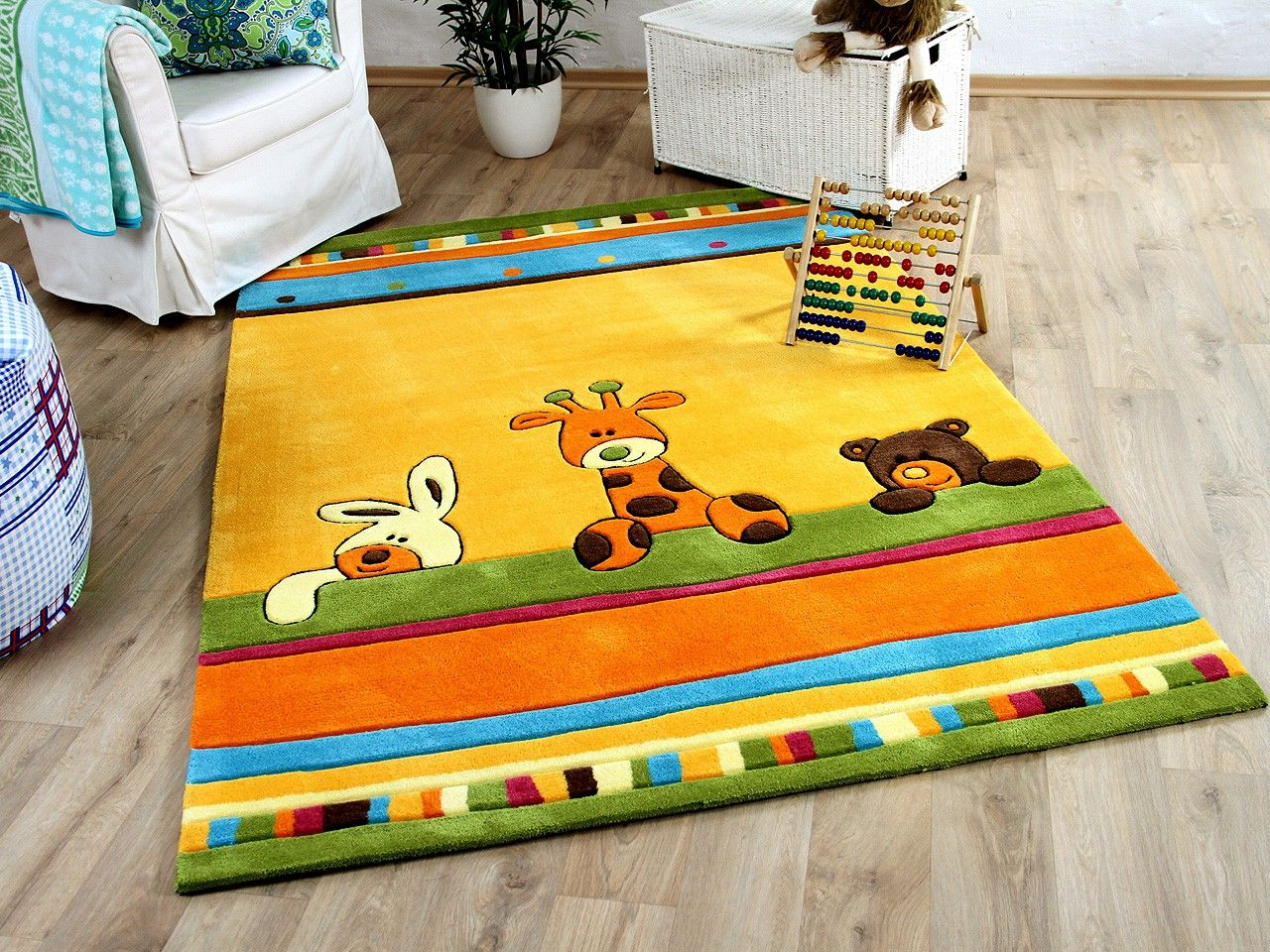 Art For Kids Teppiche Lifestyle Kinderteppich Giraffe Gelb Kinderzimmer Kids