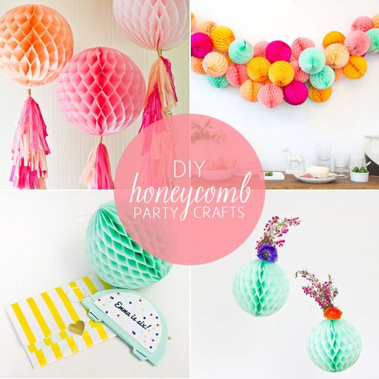 10 diy honeycomb ball party crafts babble