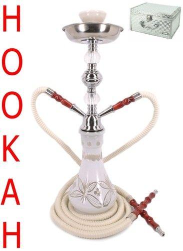 """Custom Hookah Pipes: Details About 17"""" Versailles White 2 Hose Junior Hookah"""