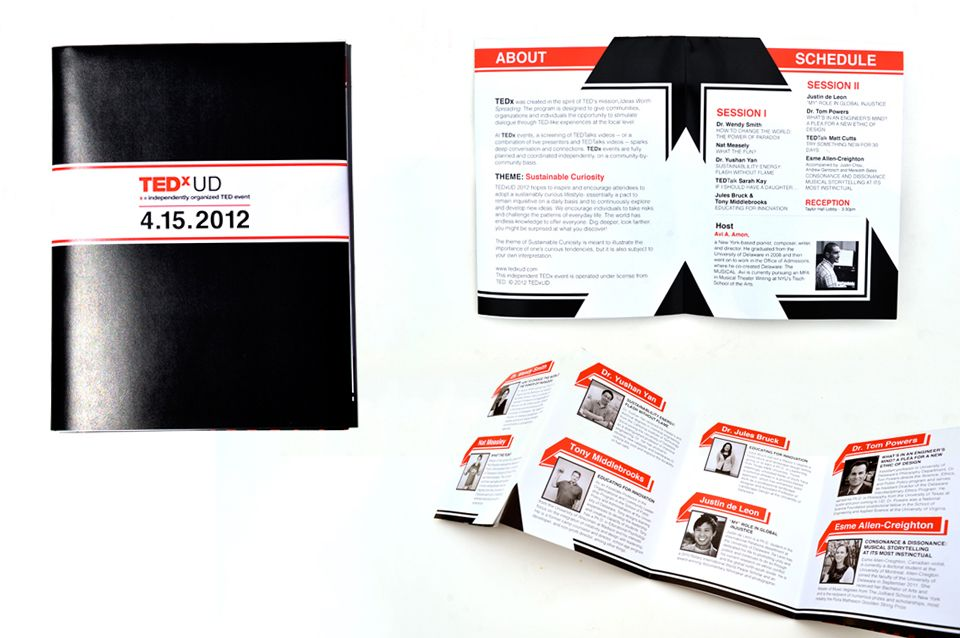 creative event program designs - Google Search TEDx Pinterest - Event Program
