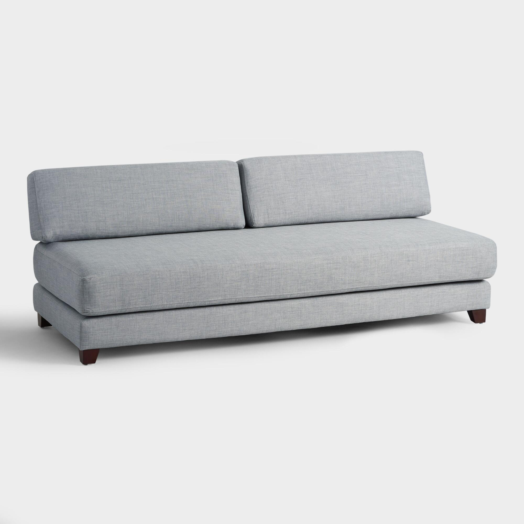Light Gray Hartley Upholstered Duet Daybed By World Market