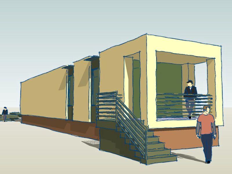 Proposed modern shotgun house american vernacular for Modular shotgun house