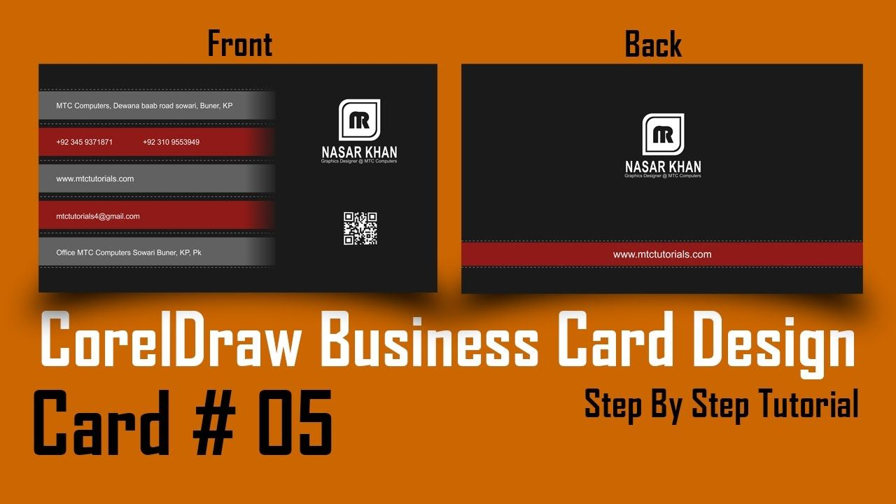 Coreldraw visiting card - How To Make Business Card In Coreldraw Professional 3d Card Design