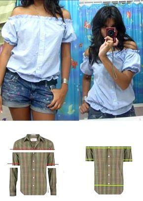 be137b1be45 Блузка из мужской рубашки