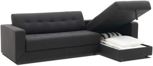 canap lit contemporain en tissu en cuir stockholm boconcept