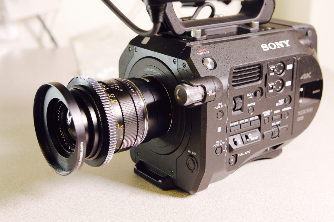 Sony PXW-FS7 x Leica-R 35mm prime lens    Cinema camera