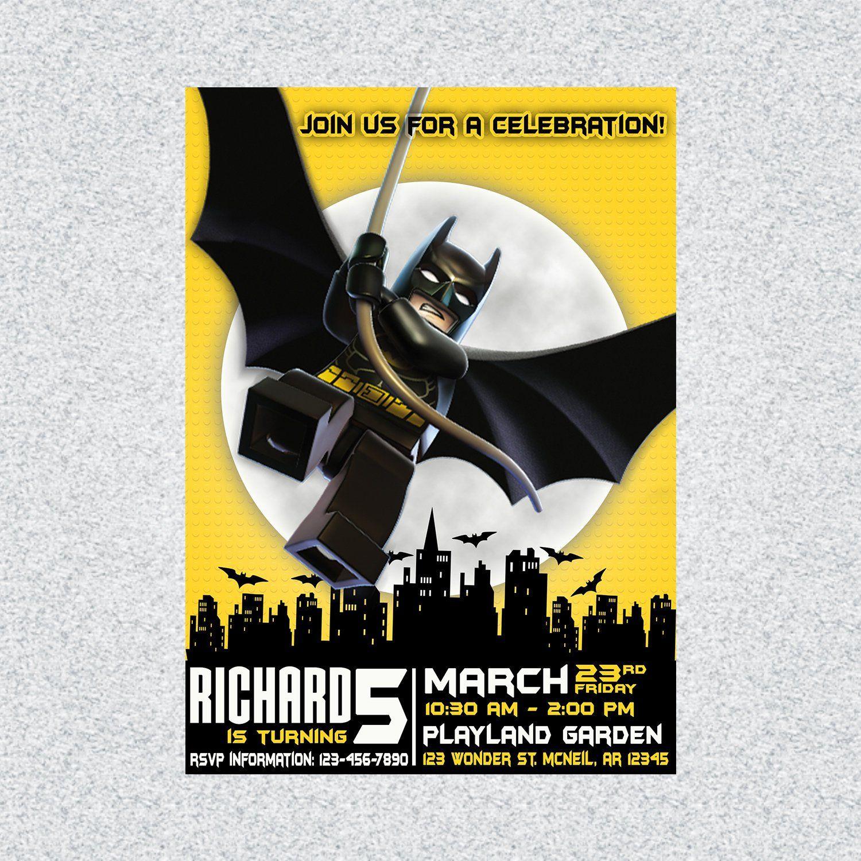 graphic about Batman Printable Birthday Card known as Batman Birthday Invitation, Batman Printable Invitation