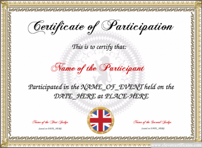Free Certificate Templates For Kids Sport And Community Groups
