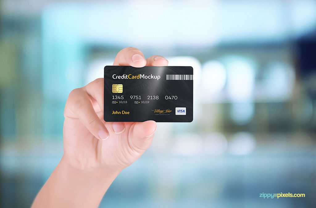 Free Credit Card Mockup With 4 Unique Holding Positions Fribly Credit Card Design Free Credit Card Credit Card Visa