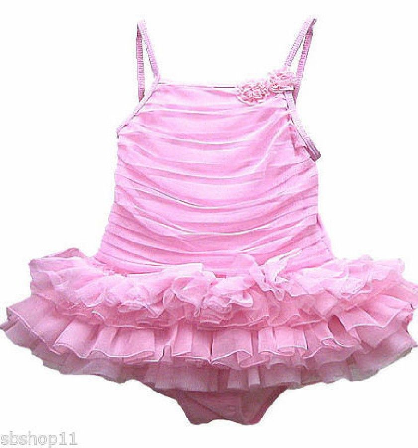 9c3204342f079 NWT Authentic Kate Mack Girls/Kids Ballerina Tutu One Piece Pink Swimsuits  2T-6X picclick.com