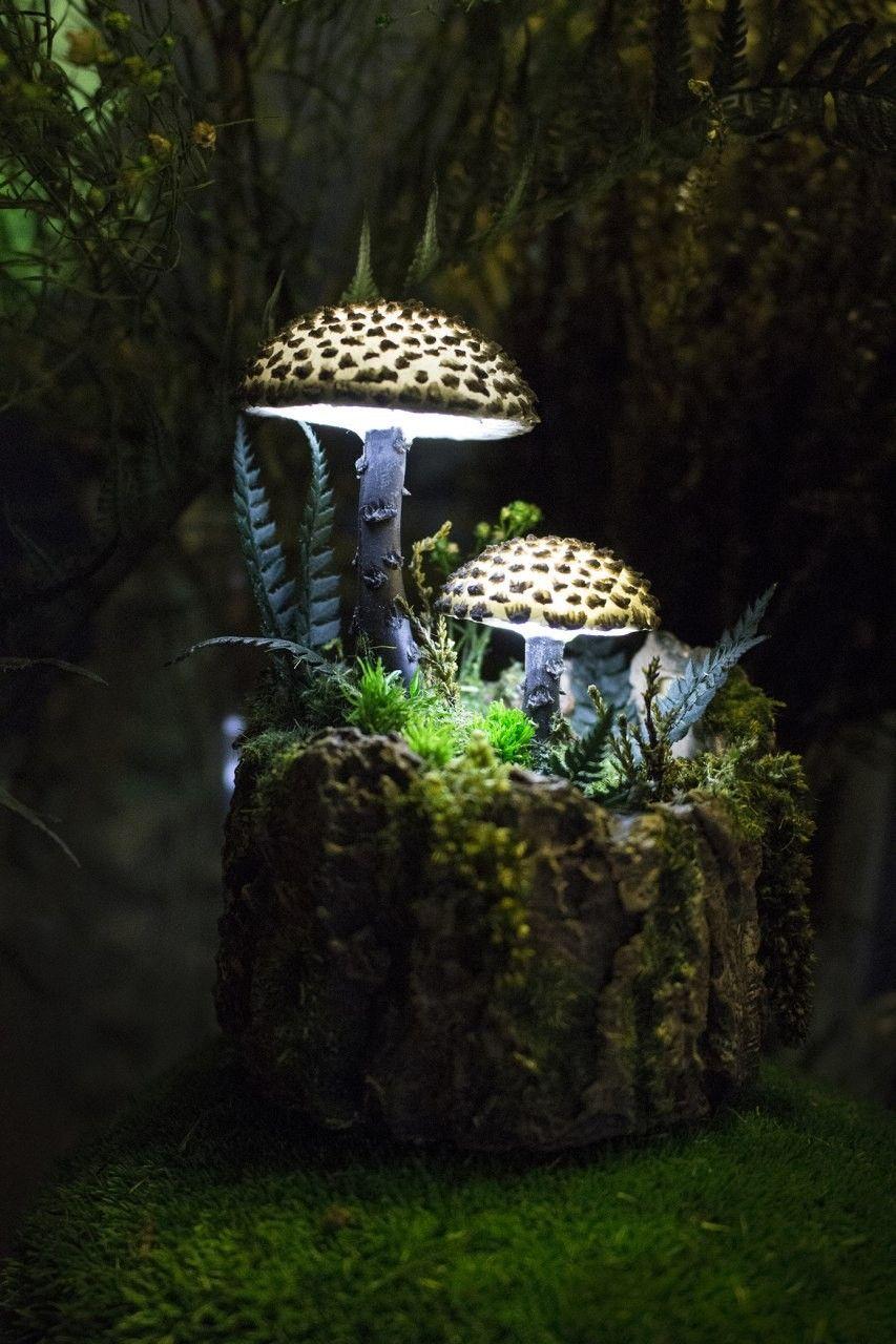 Mushroom Lamp By Thesnowmade Mushroom Lamp Mushroom Lights Cool Lighting