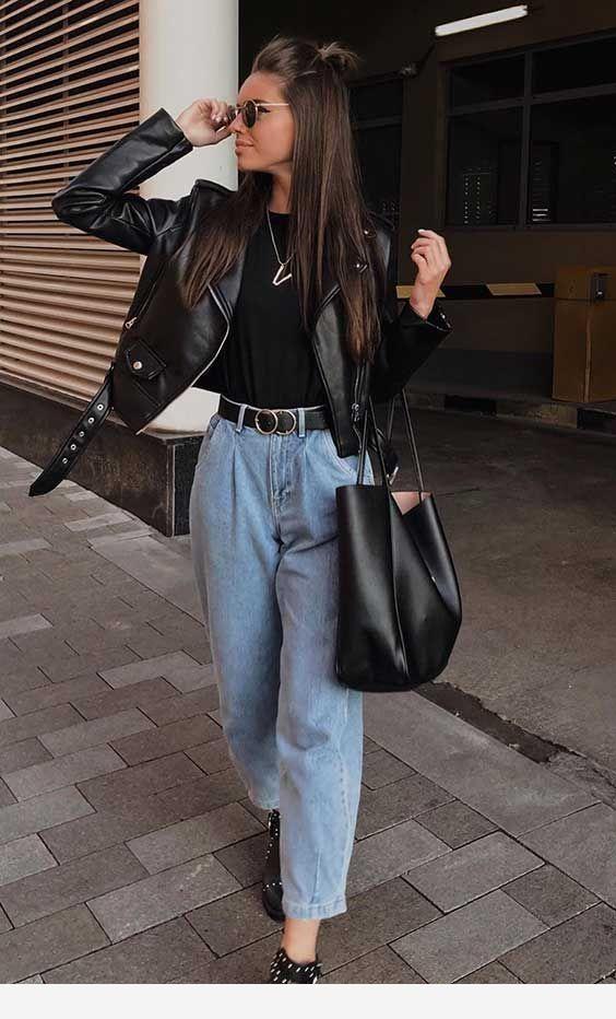 Jeans und Jacke – schwarzer Stil   – Fashion & Outfits