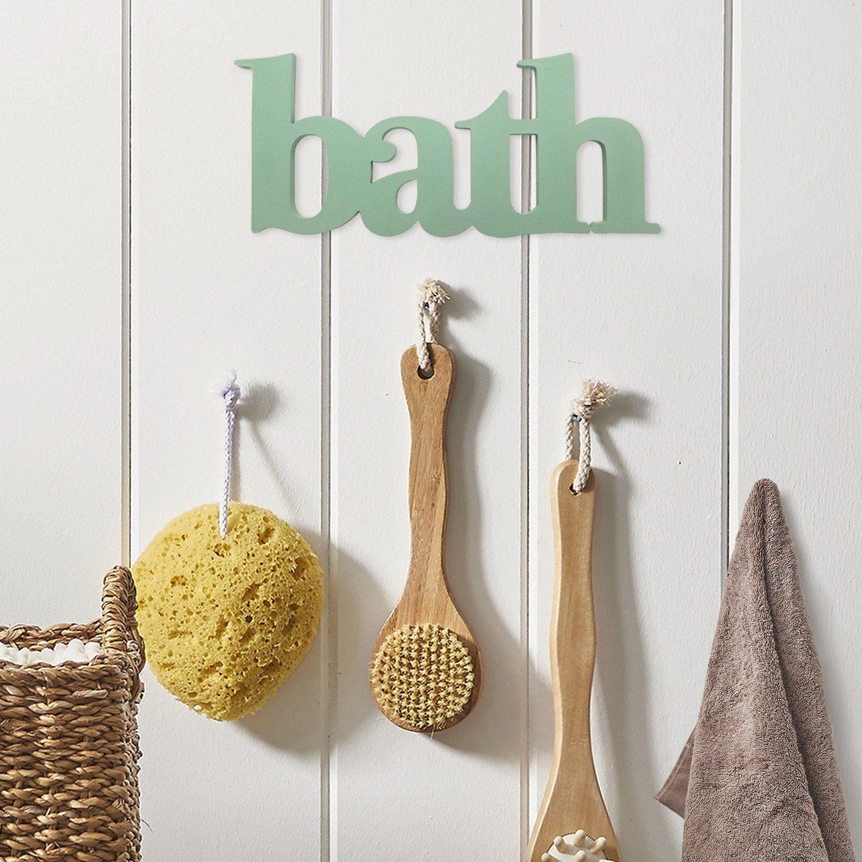 Photo of Seafoam Green Bath Word Wall Decor